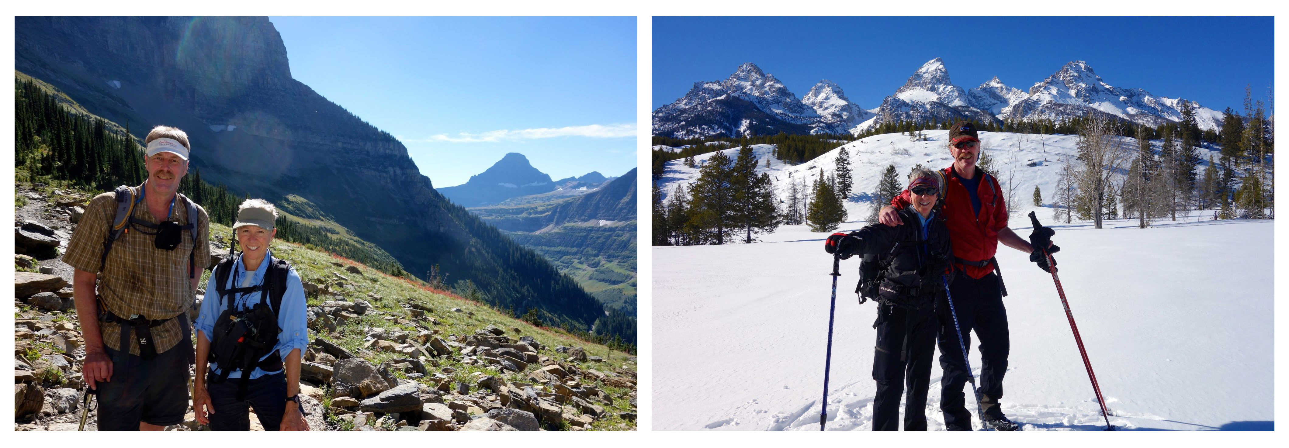Hiking in Glacier, and Skiing in the Tetons