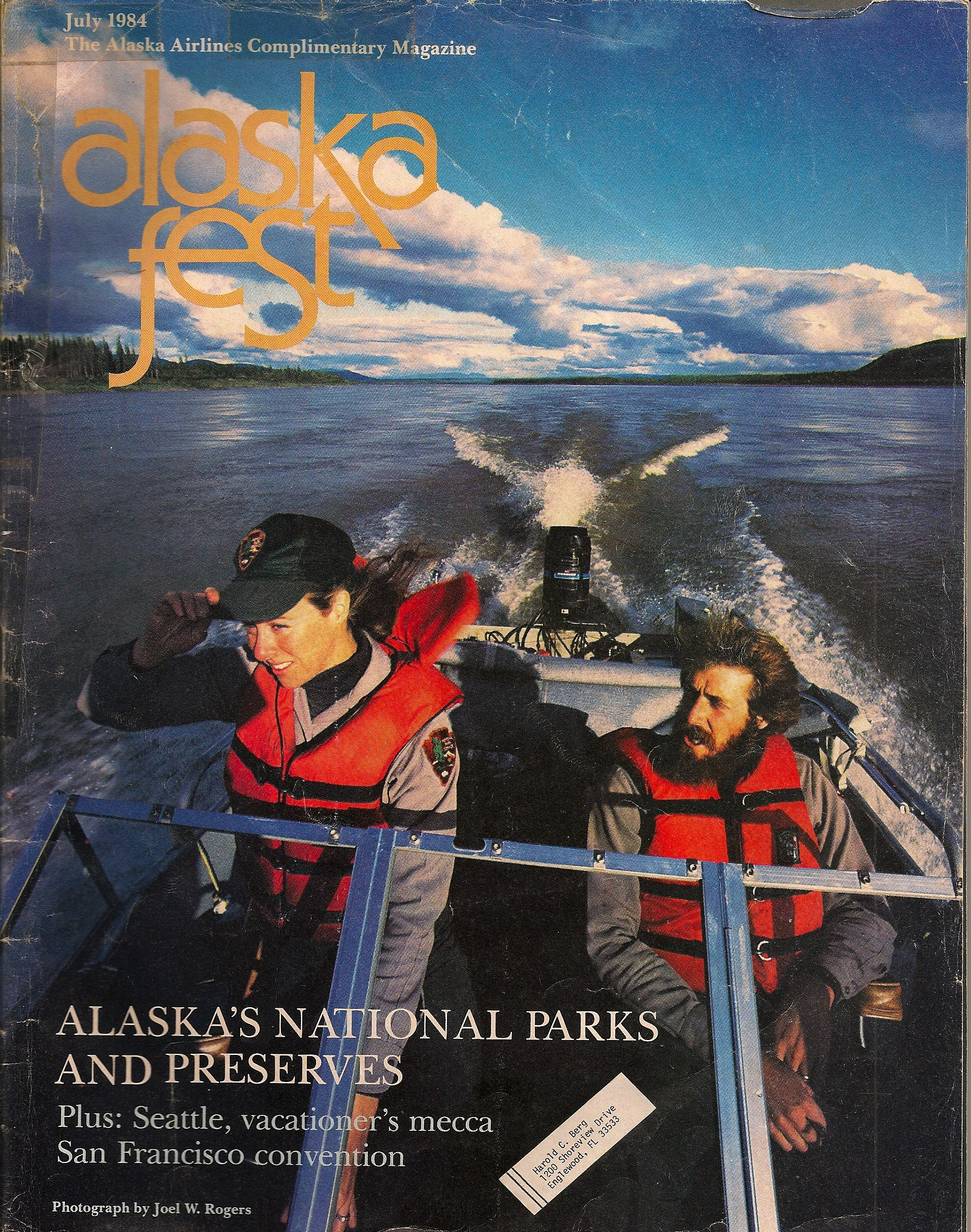 Colette and Bill, Back Country Rangers in Alaska - 1983
